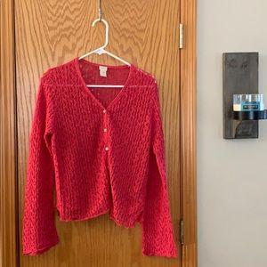 J Jill Hemp Knit Sweater Cardigan
